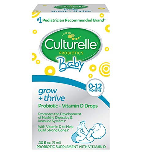 Culturelle Baby Grow + Thrive Probiotics + Vitamin D Drops - 400 IU - Helps Promote a Healthy Immune System & Develop a Healthy Digestive System , 0.3 Fl Oz (Pack of 1)