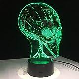 LXXYD 3D Visuelles Licht Optische Täuschung Führt 7 Farben Ändern 3D Täuschung Pop Eye Alien Form Licht Acryl Nachtlicht Mit Touch-Schalter Kind Lava Lampe