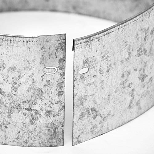 bellissa Rasenkante Kreis aus Metall - 99670 - Stahlblech feuerverzinkt, silberfarbig - rund - Höhe 13 cm, Durchmesser 20 cm - Mit patentierter Verbindungstechnik