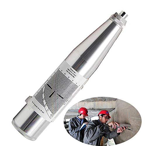 CGOLDENWALL Beton-Rückprallhammer Tester Resiliometer Schmidt Hammer Test Meter Werkzeug im Umfang von 10-60 MPa ZC3-A mit englischem Label