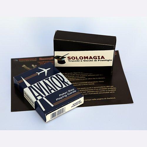 Mazzo di Carte Aviator - Formato poker dorso blu - Card Deck Aviator - Format poker blue back - Mazzi Aviator - Carte da gioco - SOLOMAGIA