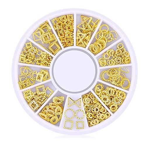 isuper Beauté 200 comptage/3d Pack Mini Nail Art Nail Supplies Stud stickers Glitter métal avec Charme de mode de bricolage ongles décoration de beauté Série niche Solide
