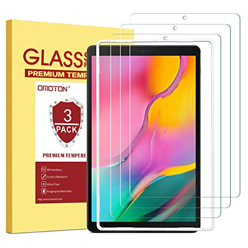 Best Price! OMOTON [3 Pack Screen Protector for Samsung Galaxy Tab A 10.1 2019 Release SM-T510, Temp...