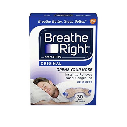 Breathe Right, Nasal Strips, Original Tan, 30 Large Strips
