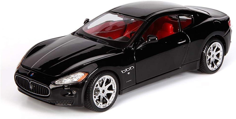 mejor oferta KaKaDz Wei KKD Escala Modelo Simulación Vehículo Maserati Modelo de de de Coche 1 24 Modelo de Coche Metal Simulación Niños Juguete Coche Coche Juguete Colección de Coches Bebé ( Color   negro 027 )  diseñador en linea
