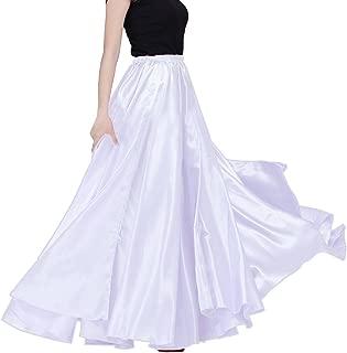 Womens Elegant Ballroom Long Latin Belly Dance Full Circle Dance Skirt Performance Dress