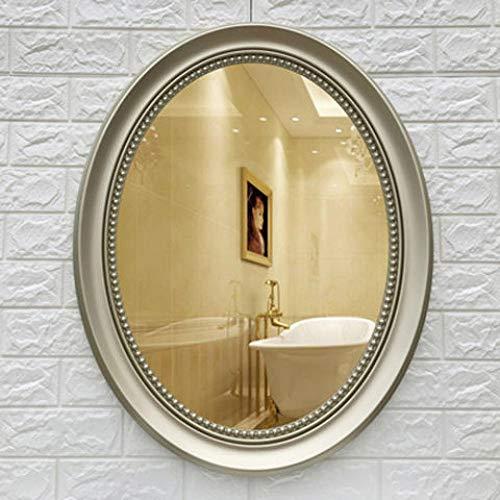 YBGW Standspiegel Groß Vintage Ovale Badezimmerspiegel Mit Rahmen Frei Punsch Einfache Wandbehang Dekorative Schminktisch Make-Up Spiegel Kosmetikspiegel