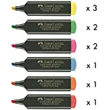 Marcadores Fluorescentes FABER-CASTELL Textliner 48, Pack x10 Surtidos