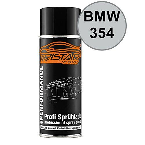 TRISTARcolor Autolack Spraydose für BMW 354 Titansilber Metallic/Titanium Silver Metallic Basislack Sprühdose 400ml