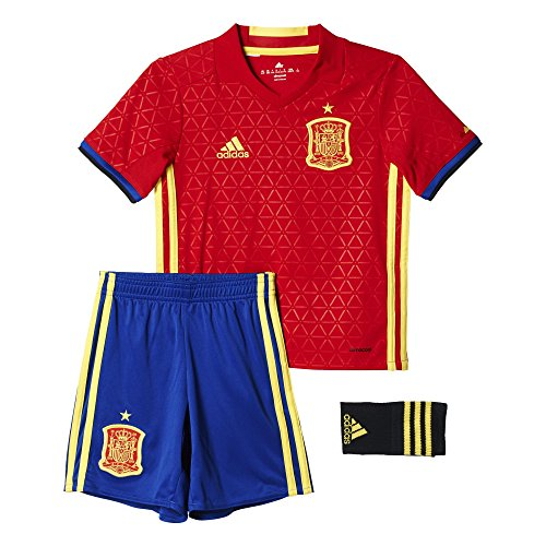 adidas UEFA Euro 2016 Spain Home Set, Niños, Rojo Escarlata/Azul/Amarillo Brillante, 152