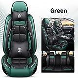 SUNQQJ Fundas Asientos Coche Universales para Seat Alhambra Altea Ibiza 6L 6J Leon Mk2 Mk3 Toledo Ateca Arona Accesorios Coche, Verde