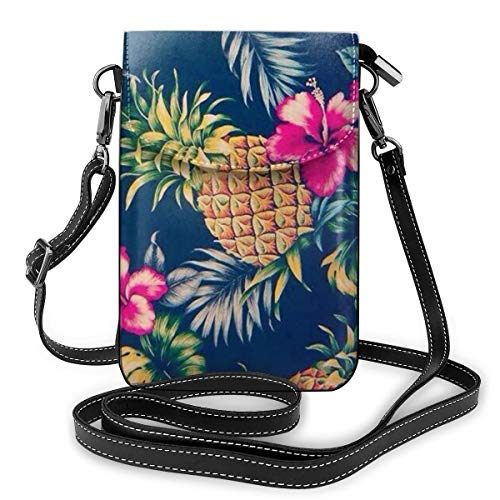 XCNGG bolso del teléfono Women Girls Small Crossbody Bag Cell Phone Purse Wallet Lightweight Roomy Travel Crossbody Handbags Mini Messenger Shoulder Bag Wallet with Credit Card Slots - Hawaiian Flower