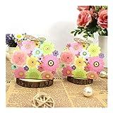 ZHHO 50pcs favorece a Regalos consumibles láser Flor de Mariposa Elegante Caja de Lujo de la decoración del Partido del acontecimiento de Caramelo Bolsa de Papel for los huéspedes Packing (Color : 1)