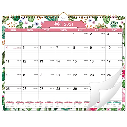 2021-2022 Calendar - Wall Calendar from July 2021 - December 2022 with Julian Dates, 11.5' x 15', Two-Wire Binding, Ruled Blocks Perfect for Planning and Organizing for Home or Office