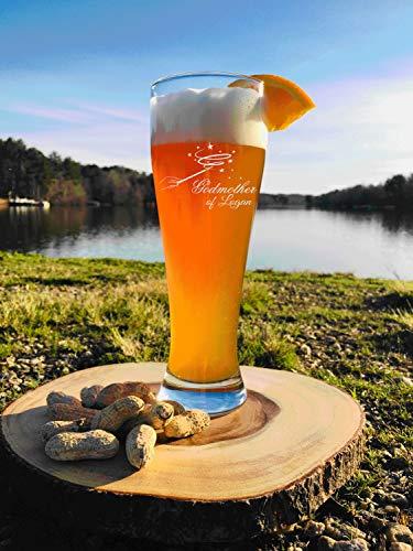 Regalo de madrina personalizado, regalo de padrino, vaso de cerveza grabado Pilsner de 473 ml, Will You Be My Godmother o Bautismo, para la madrina