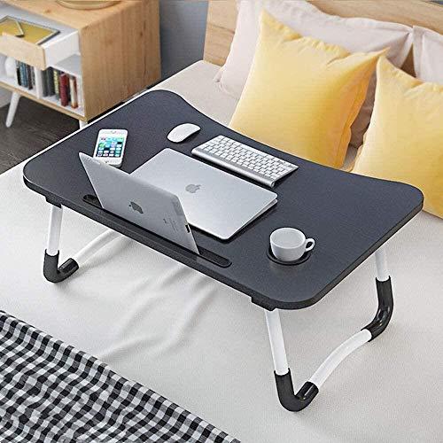 Laptop Desk, CHARMDI Portable Laptop Bed Tray Table, Lap Desk,Couch Table,Bed Desk, Laptop Table with Desktop Card Slot & Cup Slot for Bed/Sofa- Black