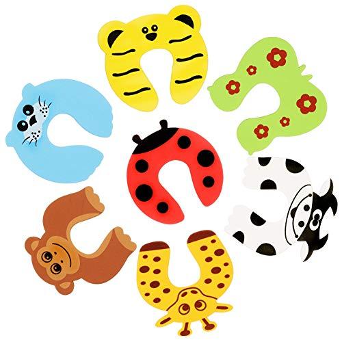 dorisdoll 7 x Türstopper Finger Klemmschutz Cartoon Tier Dickschaum Baby Sicherheit Kindersicherheits Schutz...