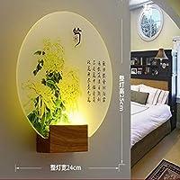 現代のロマンチックな平野染め燭台屋内壁Ledアクリル壁取り付け壁ランプリビングルームキッチンベッドサイド暖かい光5
