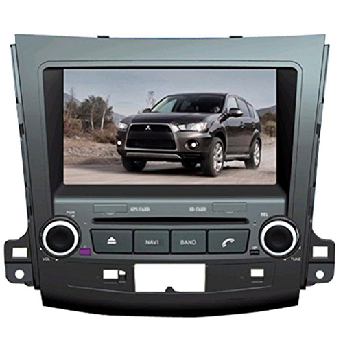 Generic 20,3 cm Touchscreen Auto GPS Navigation für Mitsubishi Outlander 2007 2008 2009 2010 2011 2012 2013 Auto PC CD DVD Player RDS FM AM Lenkrad Steuerung iPod Bluetooth Telefonbuch Auto Radio Video Audio-Stereoanlagen Multimedia 8 GB SD Karte mit Landkarte