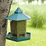 comedero para pájaros para colgar transparente forma de casa comedero para pájaros...
