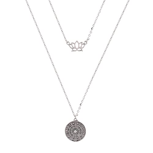 Silver Double Layer Heart Necklace New Uk Boho Boutique Festival Luxury Pretty