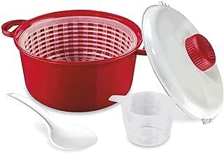 Olla para microondas coccion rapida con cesto 2,5L Max 120ºC pollo carne arroz .
