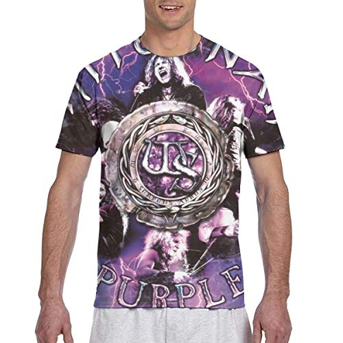 Camisa Deportiva de Manga Corta para Hombre, Whitesnake The Purple Tour Stylish Round Neck Man'S Short Sleeve Printing T-Shirt