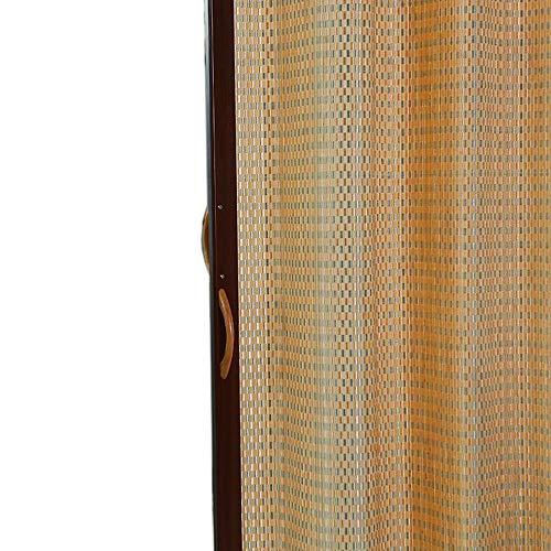 Jcnfa-Persianas Persianas Enrollables De Bambú, Dobla La Puerta Corredera De Izquierda A Derecha, Cortinas Enrollables Sombra Exterior De Rodillos Sombra De Rodillo Sin Cuerda 90% De Protección UV