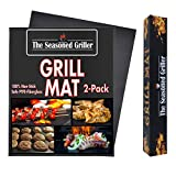 The Seasoned Griller Non-Stick Dishwasher Safe Grill Mats, Reusable 2-Pack Easy to Clean Mat, Grilling and Baking, Charcoal, Gas, Wood, Electric Grilling Accessories