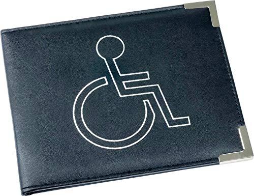 Esposti Disabled Blue Badge & Timer Holder - PU Leather Cover - Metal Corners - Hologram Safe -...
