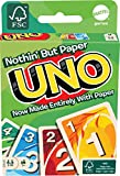 Mattel Games UNO Nothin' But Paper Family Card Game with 112 Cards & Instructions for Players 7 Years & Older, 100 Percent Paper Green Gift for Kid, Family & Adult Game Night [Amazon Exclusive]