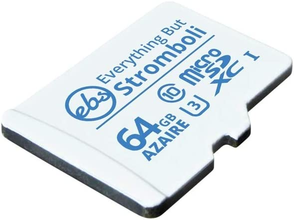 Everything But Stromboli 64GB Azaire MicroSD Memory Card for Samsung Galaxy Phone Works with A10s, A30s, A20s, A71, A01, A11 - Speed Class 10 U3 UHS-1 Micro SDXC Card