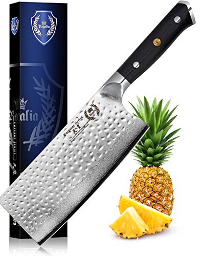 Chinese Meat Cleaver Butcher Knife 7 inch: Best Quality Heavy Duty Professional Japanese AUS-10 67-Layer Damascus Steel Ultra Sharp Blade Vegetable Chopper w/G-10 Ergonomic handle by Regalia Knives…