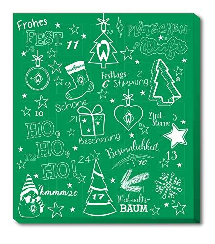 Adventskalender, Weihnachtskalender deines Bundesliga Lieblingsvereins - und Sticker Wir Leben Fußball Fairtrade (Werder Bremen)