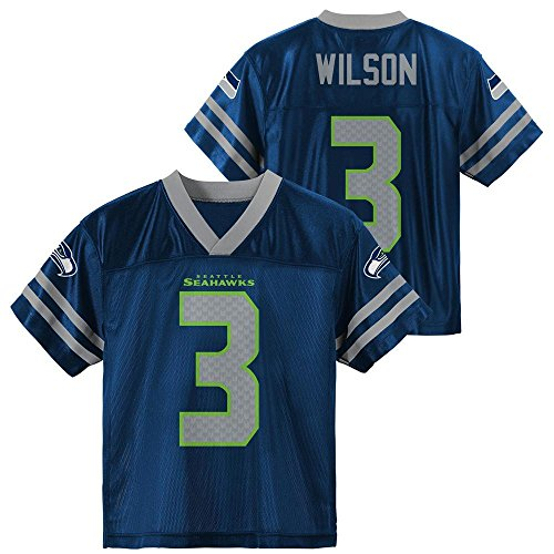 Russell Wilson Seattle Seahawks Navy Blue Home Player Jersey Youth (XS 4/5)