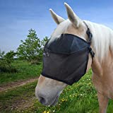 EquiVizor 95% UV Eye Protection (Full) Standard Horse Fly Mask - Insects, Dust, Debris, Uveitis, Corneal Ulcer, Cataract, Light Sensitivity, Cancer. Designed to Stay On Your Horse, Off The Ground!