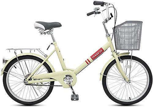 Bicicleta de montaña de 20 pulgadas para niños y niñas montar bicicletas adecuadas para niños de 9 a 14 años azul blanco amarillo-amarillo