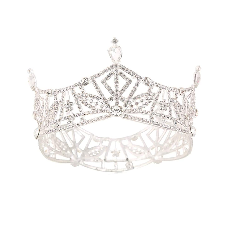 ながらバンケット引き出しBeaupretty 結婚式のヘアアクセサリーラウンドレトロラインストーンの帽子の装飾の王冠