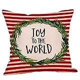 Bumplebee Weihnachten Kissenbezug 45x45cm Weihnachten Dekorative Kissenhülle mit Weihnachtlichen...