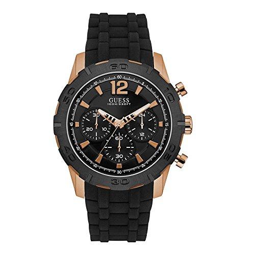 Guess Caliber Reloj para Hombre Analógico de Cuarzo con Brazalete de Goma W0864G2