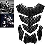 Gas Tank Protector Motorcycle Tank Pad, 3D Motorcycle Tank Sticker Protector Decal Gas Oil Fuel Tank Pad Protector Black for Suzuki Kawasaki Honda Yamaha Ducati