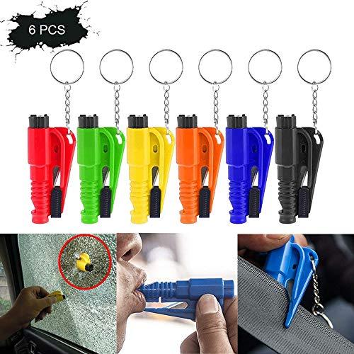 GEOV Lifekeychain 3 in 1 Car Emergency Hammer,Nothammer mit Gurtschneider Tüv Geprüft,Notfallhammer Schlüsselanhänger