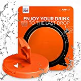 FlapFlip Premium Soda Can Lids – Reusable Beer & Pop Can Covers - PREMIUM Product - Fits on most of 12 oz - 16 oz Can - Available in 5 Fashionable Trend Colors - China FREE (Lush Lava)