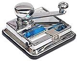 OCB MikrOmatic Duo-Zigaretten-Stopfmaschine Zigarettenstopfmaschine, Chrom, Silber, 15 x 15 x 8 cm