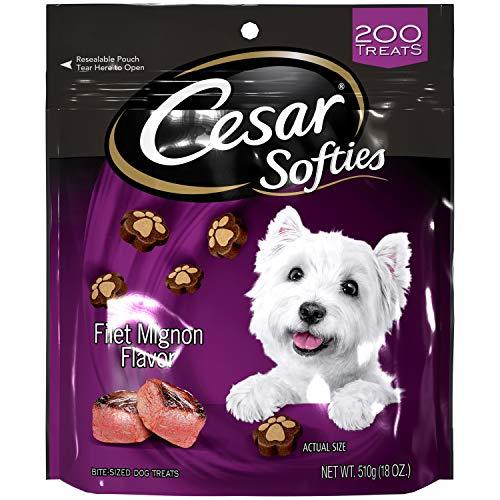 CESAR SOFTIES Chewy Small Dog Treats Filet Mignon Flavor, 18 oz. Pouch (200 Treats)
