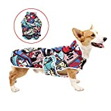 Surfing Style Dog Raincoat Dog Clothes Pet Lightweight Poncho, Lightweight Jacket for Large Medium and Small Dogs, Pet Clothes with Adjustable Straps Buckle and Harness Hole