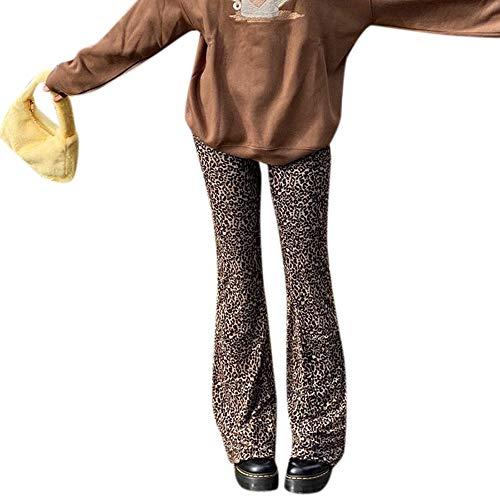 Timagebreze Leopard Y2K Jogger Frauen Hohe Taille Flare Hose Doppel Schicht Mesh Mädchen Sthetische Hose Weibliche Jogging y2k Pants Zebra Print M