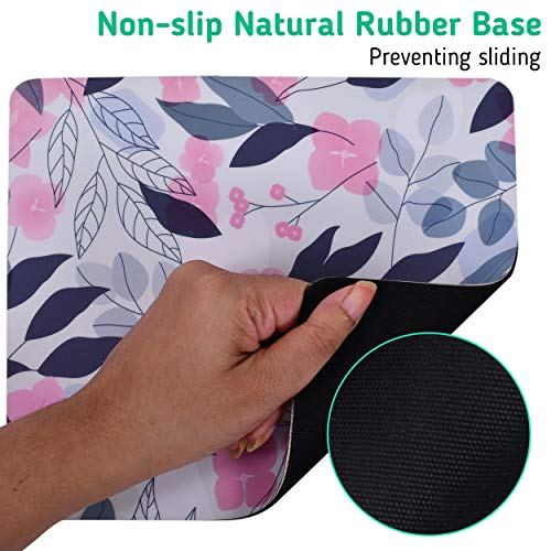 Unique Rectangle Mouse Pad with Non Slip Rubber Base, Comfortable Computer Mouse Pad for Laptop, Pain Relief Mousepad for Office & Home, 8 x 7 inches (Cherry Blossom) Photo #4