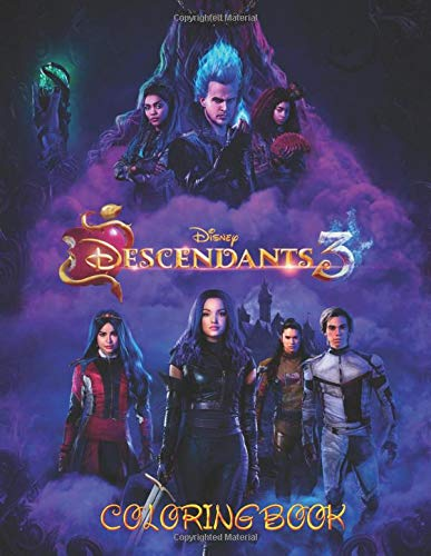 Descendants 3 Coloring Book Jumbo Descendants 3 Coloring Book With 50 Plus Premium Images For Kids And Adults Vol 1