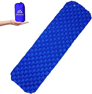 Ultralight Air Sleeping Pad | Lightweight & Compact Sleeping Mat best for Camping, Backpacking and Hiking | Comfortable Air Cell Design for Ultimate Support | Tear Resistant Camping | Free Repair Kit